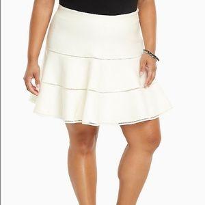 Torrid Cream Color Skirt